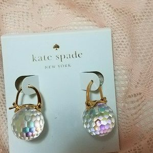 Kate Spade Clear Glass Crystal Ball Earrings